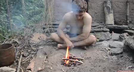 Making Forge Blower - Primitive Technology (Long Gif)