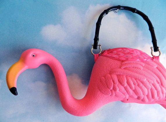 Fabulous flamingo purse from Eye Candy Sugar on Etsy!
