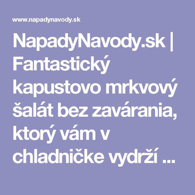 NapadyNavody.sk | Fantastický kapustovo mrkvový šalát bez zavárania, ktorý vám v chladničke vydrží až mesiac