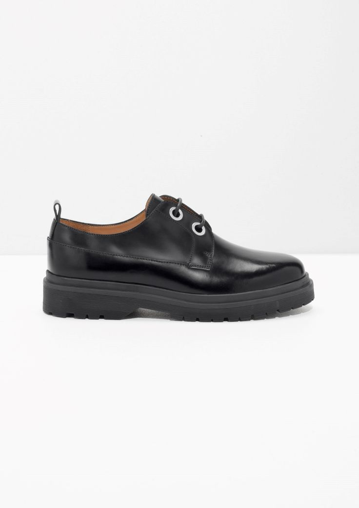 & Other Stories image 1 of Lace-Up Leather Dress Shoes in Black