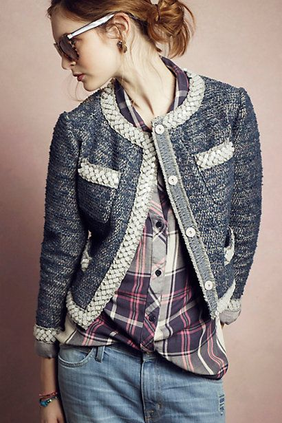Tweed Gleam Jacket #anthropologie