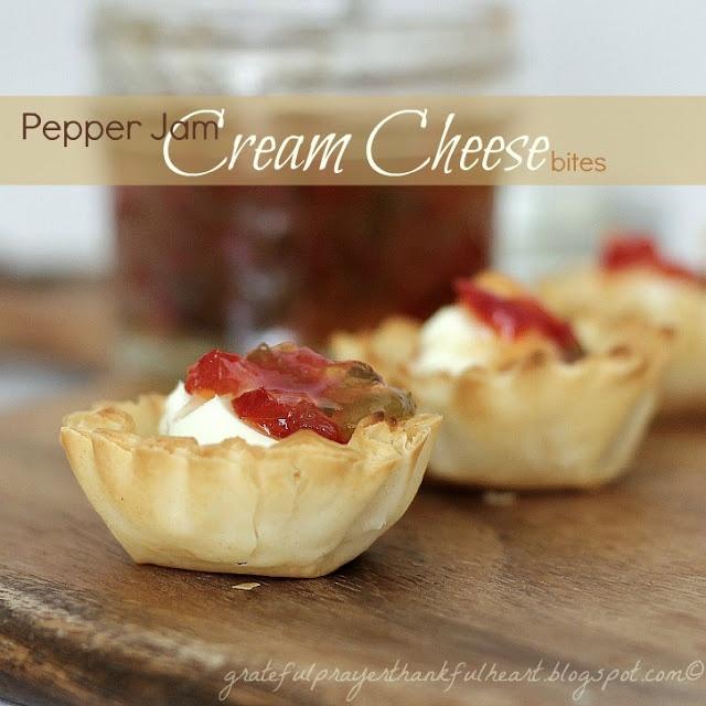 Pepper Jam Cream Cheese Bites! 4 ingredients (plus jam recipe included ...