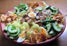 Het recept voor gado gado, Indonesische groenten met pindasaus