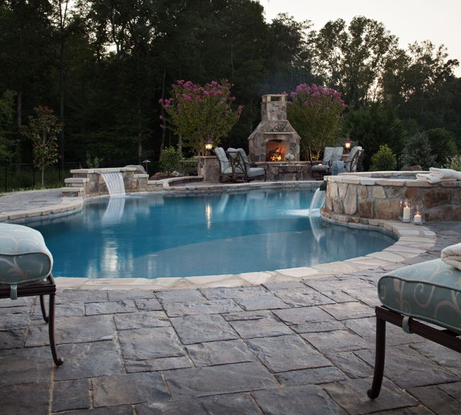 Landscaped Backyards With Pools: 110 Best Images About Pool Landscaping Design Ideas On