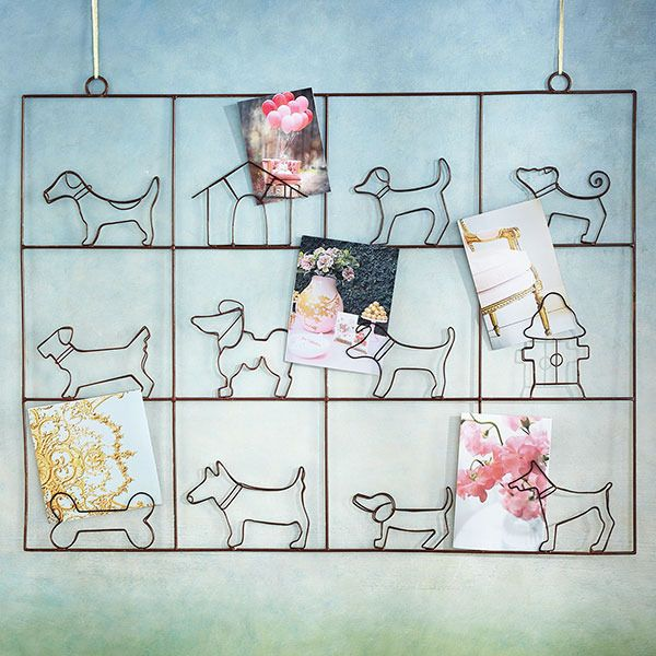 Display your cards as wall art with this wire holder | domino.com