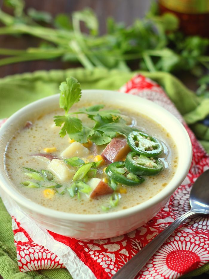 Green Curry Vegetable Potato Soup