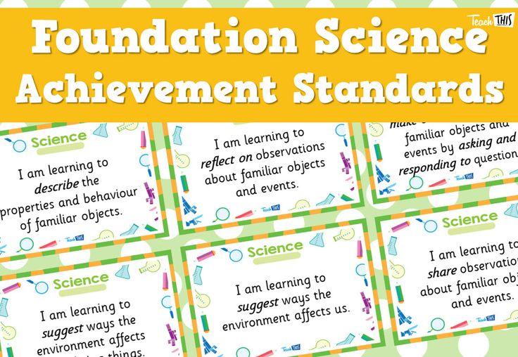 Science Achievement Standards - Foundation