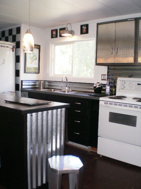 Sheet Metal Single Wide Remodel *Not to sure about the kitchen but there are a lot of good ideas in here!