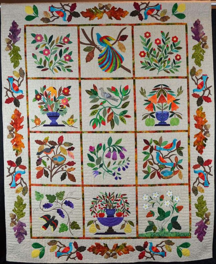 1000+ images about Jacobean applique on Pinterest Gardens, Machine embroidery designs and ...