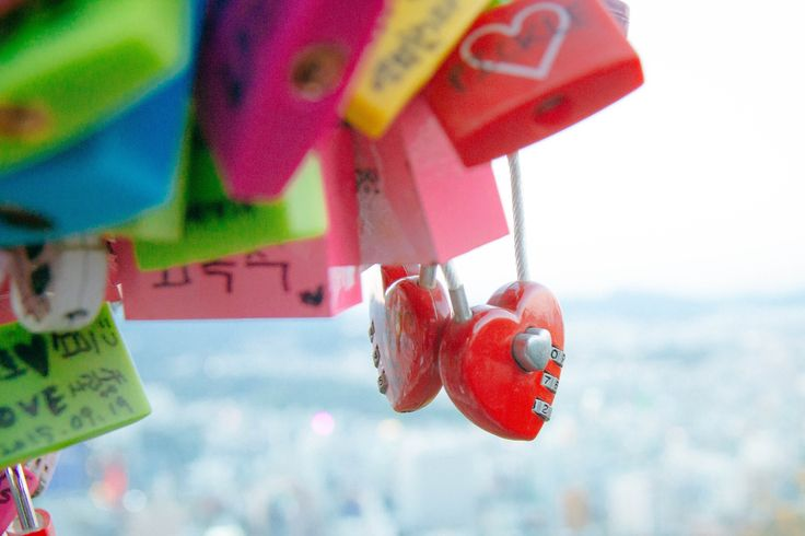 Love Locks in Seoul Towwer