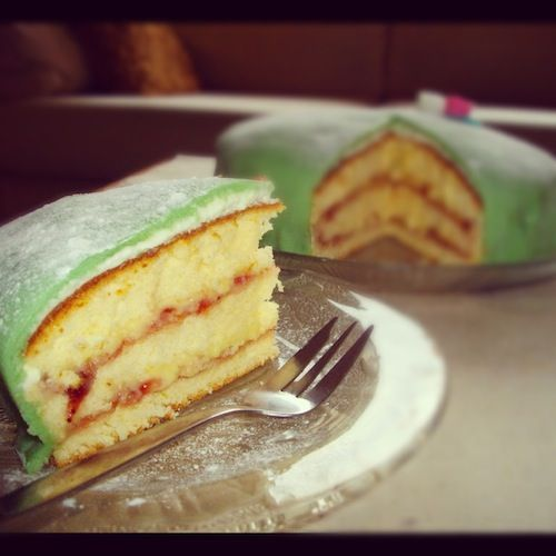 Princessa tarte marsepijn taart cake princessa cake scandinavian cake