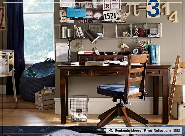 cool boy study area