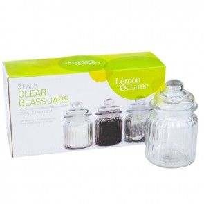 Glass Jar 3 Pack 250ml