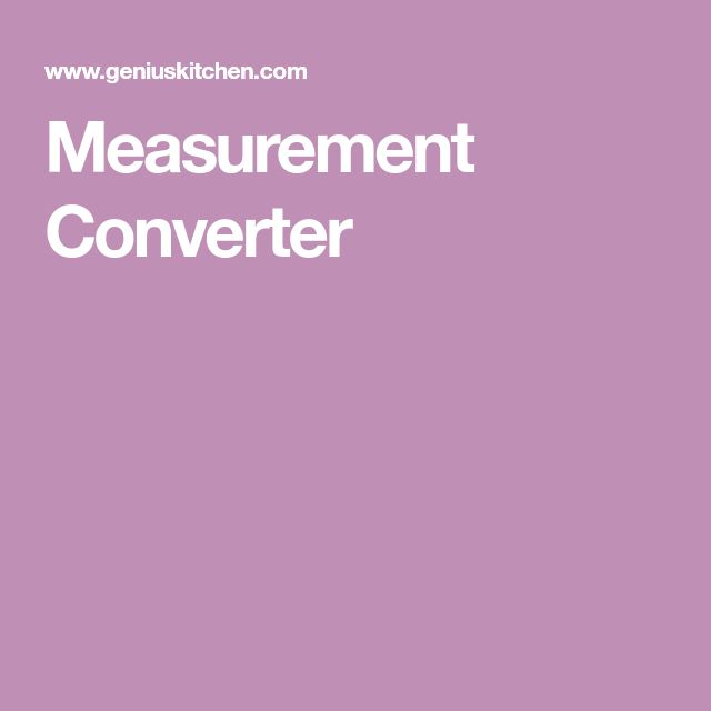 Measurement Converter