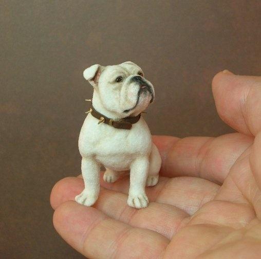 Impressive felted pup! kerri pajutee Sculpt w/fur added. Great Artist.