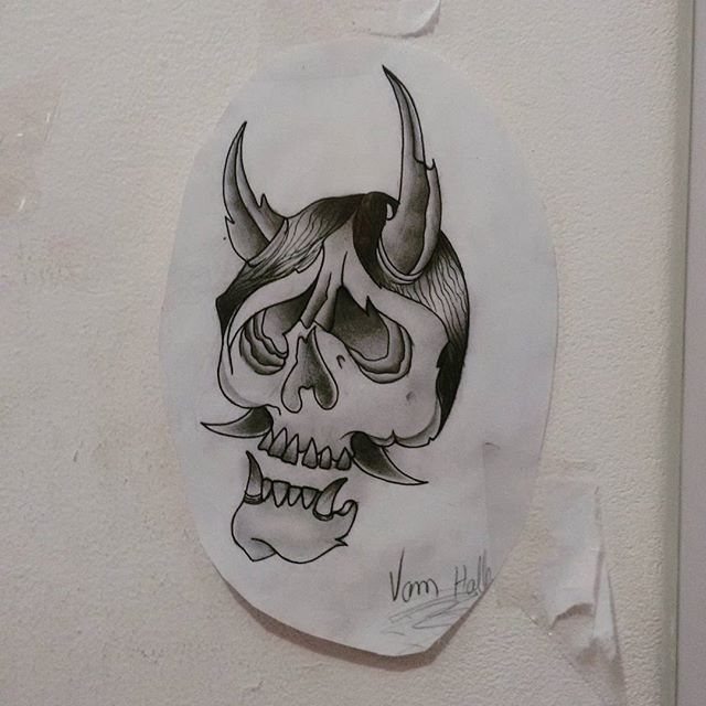 Hannya, desenho disponível para tatuar, contato 27 998262449 , #tattoo #rastatattoo #vamhallen #hannya #desenhos #drawing