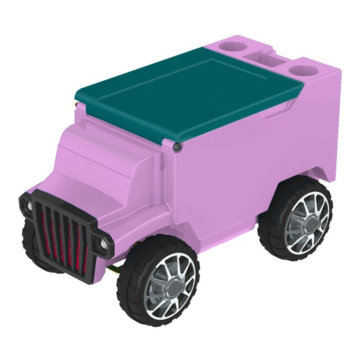 Hot Pink/Teal RC Truck Cooler w/ Bluetooth Speakers