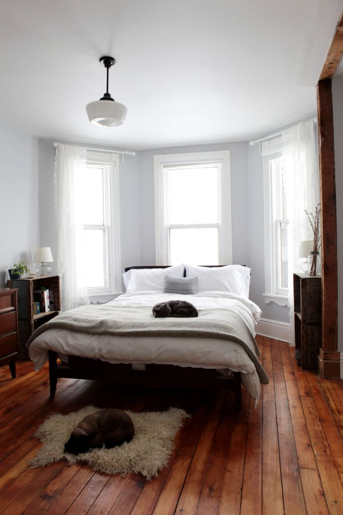 Wood Floor Small Bedroom. A Bay and Gable Home in Ontario s Arts  Culture Hub Design Window BedroomBedroom WindowsBay WindowsBedroom Wood FloorWooden Best 25 Bedroom wood floor ideas on Pinterest Flooring