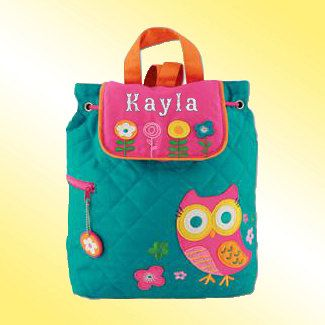 Love this!! Quilted Backpack  Personalized and Embroidered  by TheBoutiqueByEB, $24.99