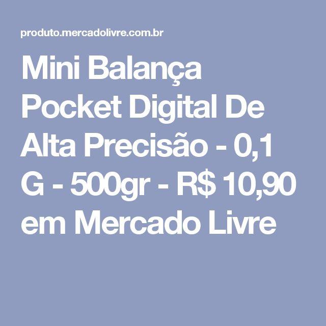 Mini Balança Pocket Digital De Alta Precisão - 0,1 G - 500gr - R$ 10,90 em Mercado Livre