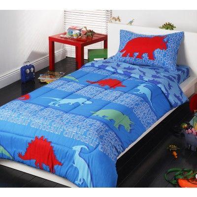 Dinosaur 3 Piece Single Bedpack by Logan & Mason Kids