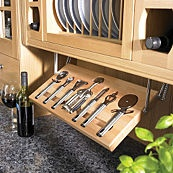 Pull-out tray - great kitchen storage idea