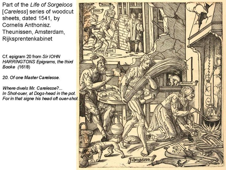 ? evidence that Harington was aware of this 16C Dutch print-series
