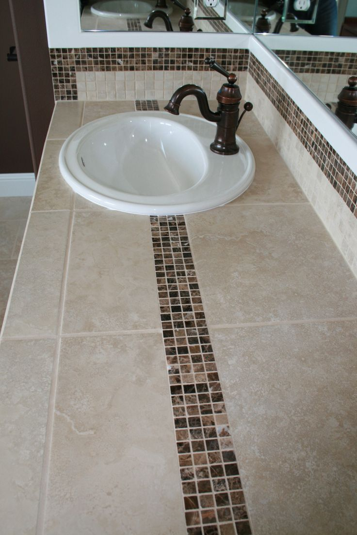 Best Images About BATH Countertop Ideas On Pinterest Mosaic -  tile bathroom countertop bathroom
