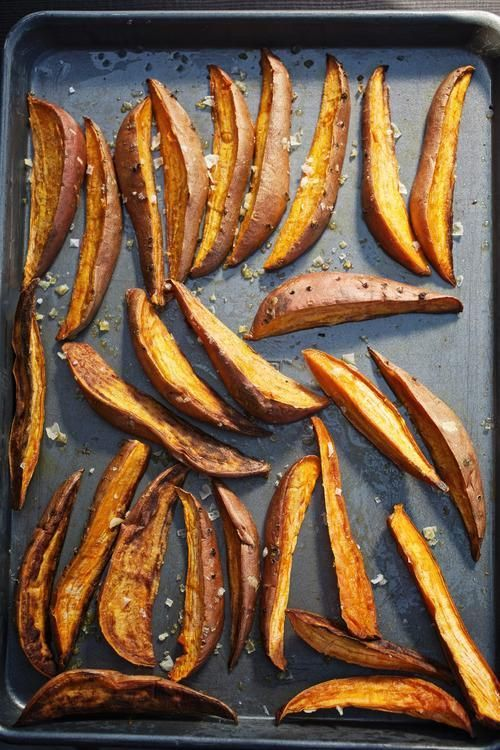 Baked sweet potato wedges with spicy Creole zip