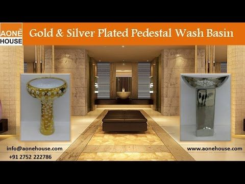 Buy exclusive range of decorative Gold Platted Wash basin with Pedestal at www.aonhouse.com . We Produce Ceramic Washbasin, Washbasin Pedestal, Urinal, Close Couple, Two Piece toilet, One Piece toilet, Squatting Pan, Table Top Basin, Wall Hung, Indian Water Closet, European Water Closet, Sink, Ceramic Bathroom Accessories, Asian Pan with P Trap and S Trap, Water Closet Indian and European Style, Bidet Etc in White Colour and Other multi Ceramic Colour. To know more, watch out this video or…