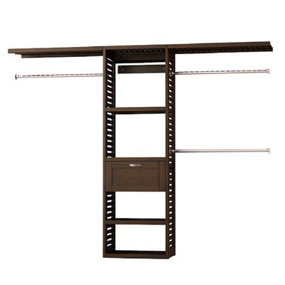 allen and roth sable closet tower premium solid wood kit rod bracket ft java includes ventilated