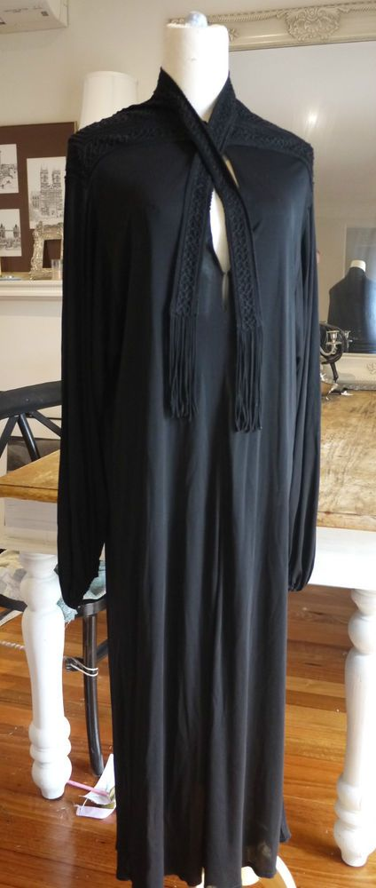 MURRAY ARBEID Vintage Black Pussybow Dress Sz 12 in GUC #MurrayArbeid