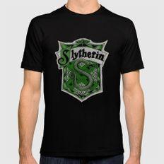 Slytherin MEDIUM Mens Fitted Tee Black