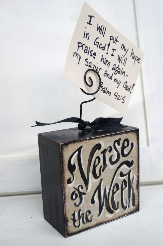 Verse Of The Week Card Holder by kijsa on Etsy, $14.50
