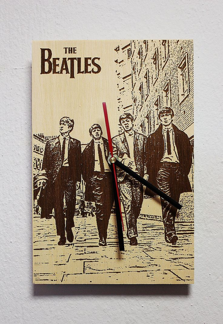 Wooden wall clock Band '' The Beatles '' gift for birthday, gift for boyfriend birthday, gift for girlfriend birthday by KesisArtGR on Etsy