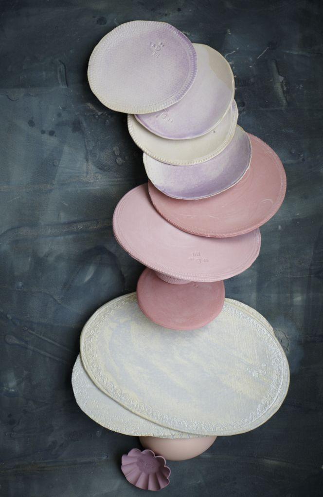 surfaces of fresh made ceramics for abc new york ceramics + photo dietlind wolf / design tableware