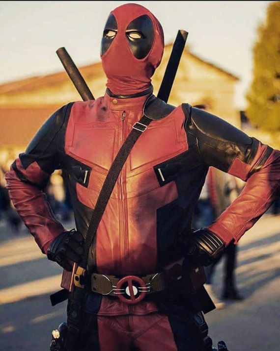 Replica Full Leather or Cordura Deadpool Movie Costume or Motorcycle Suit **Xmas Price Drop**