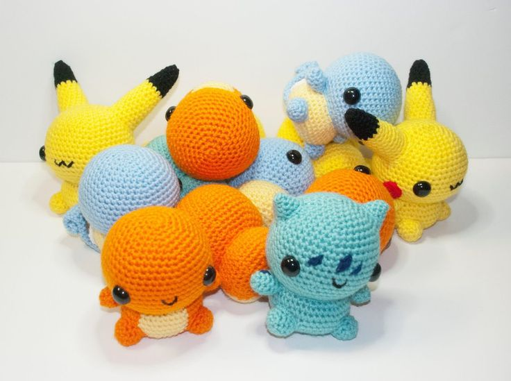 Amigurumi pockemons by Heartstringcrochet.deviantart.com on @deviantART #crochet #geek