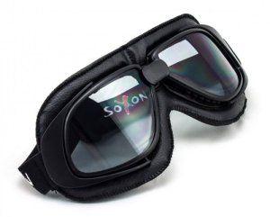 SOXON SG-300 Night · Oldtimer Vespa Scooter Ski Biker Cruiser Vintage Jet Lunettes de Protection Masques de Moto · ✔ conception en cuir ✔…