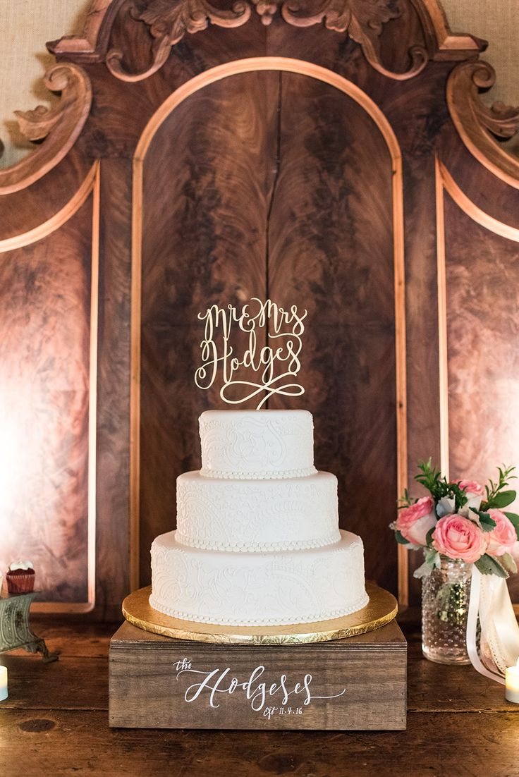 Who doesn't love a totally classic wedding cake?? We sure do! 3Eight Photography captured Mr. & Mrs. Hodges's elegant cake beautifully! Click the image to learn more about this wedding photography team. Photo credit: 3Eight Photography