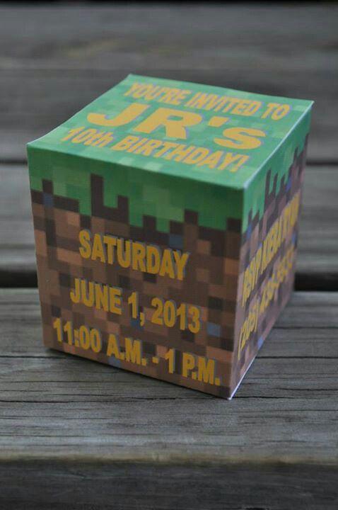 Minecraft Block Invitation #minecraft