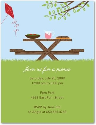 Party Invitations Summer Feast - Front : Meadow
