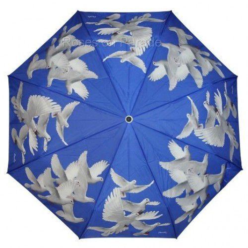 ~PEACE DOVES~ BLUE MANUAL STICK WIND RESISTANT UMBRELLA by PEALRA #PEALRA #StandardClassic