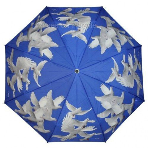 ~PEACE DOVES~ BLUE MANUAL STICK WIND RESISTANT UMBRELLA by PEALRA #PEALRA…
