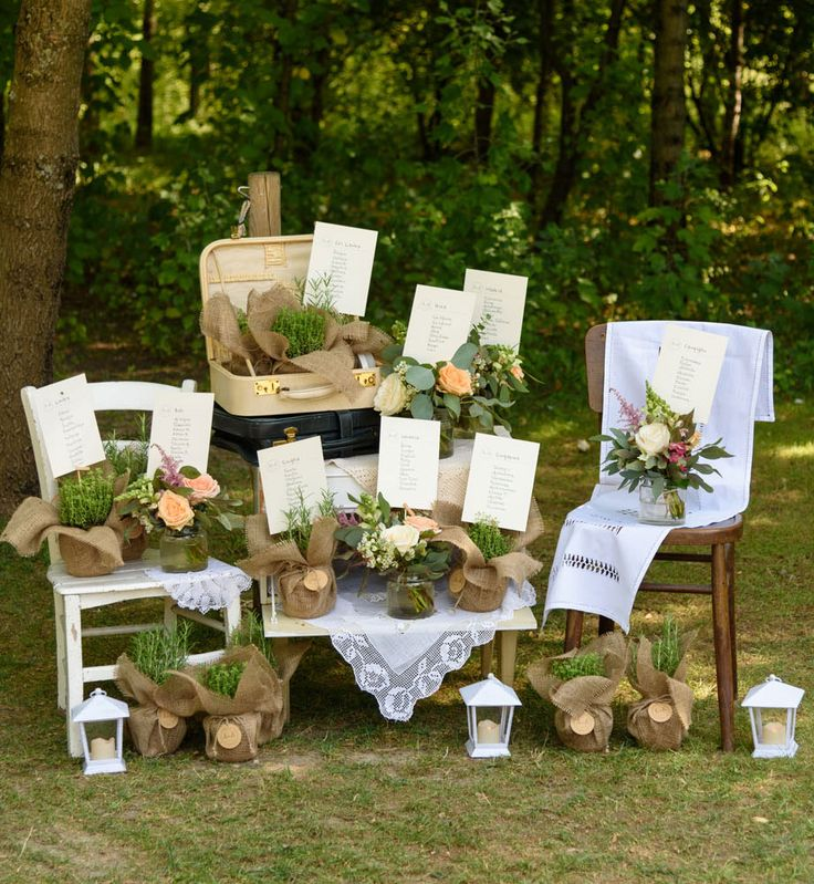 Idea Tableau per un matrimonio rustico country chic