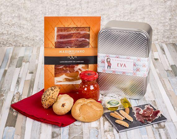 """Caja """"jamón para embarazadas"""" personalizada. Tras nueve meses sin comer jamón, las embarazadas desean reencontrarse con este maravilloso producto."""