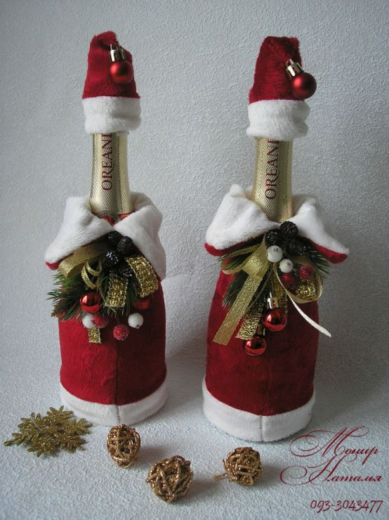 111 monier botellas - Botellas de vino decoradas para navidad ...