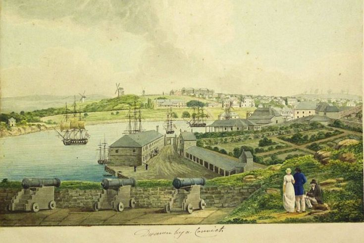 A View of the Cove and Part of Sydney, attributed to Joseph Lycett.