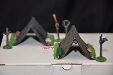 BRITAINS 17440 AMERICAN CIVIL WAR PUP TENTS TOY SOLDIER FIGURE DIORAMA SCENERY