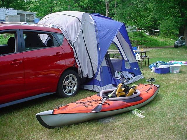 My Car Tent Amp My Inflatable Kayak Perfect Weekend